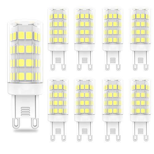 G9 10W Lampadine LED,Equivalente di Lampadine alogene da 90W,Non Dimmerabile,Bianco Freddo 6000K, 900 Lumen, 86x2835 LED SMD, AC220V -240V, Pacco da 5