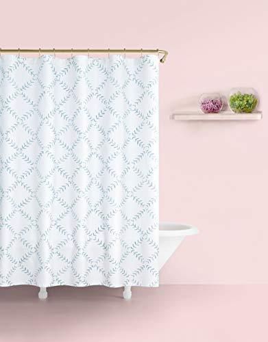 Kate Spade New York Fern Trellis Shower Curtain, Turquoise/White