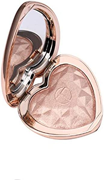 Heart Shaped Highlighter Makeup Highlighting Shimmering Powder With Mirror 4