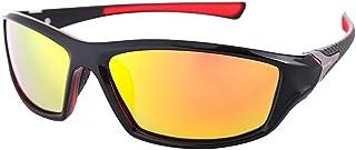 Gosunfly - Gafas de sol deportivas polarizadas para hombres, película colorida, espejo de polvo, espejo para montar, gafas de sol polarizadas-Polarizer_Black frame