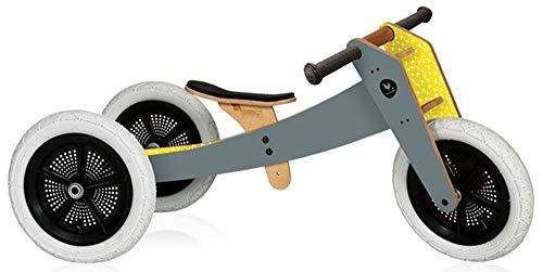 Wishbone Design Studio - Draisienne Wishbone Bike 3 en 1 Grise - Bois,Plastique,Caoutchouc - 1016