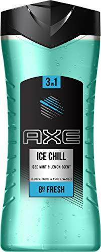 Axe Ice Chill XL 3in1 Duschgel Herren 6er Pack Body Hair Face 8h Eisfrischer Minz + Lemon Duft (6x 400 ml)