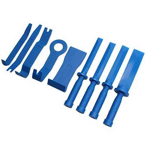 Preisvergleich Produktbild CCLIFE 2 in 1 Klebegewichte Schaber Kunststoffschaber Dichtungsentferner Demontage Werkzeug mit Auto Zierleistenkeile Verkleidungs Werkzeug