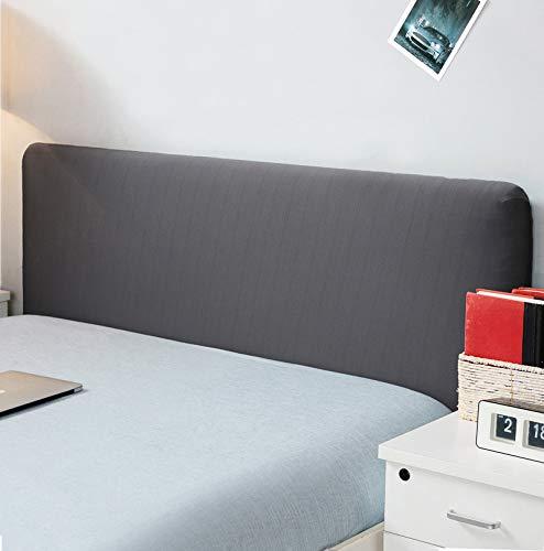 """Copertura per testiera per letto, protezione elastica a tinta unita, decorazione per camera da letto, copertura antipolvere, Dark Gray, King (70.5-78"""")"""