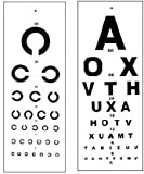 Easily can be hanged everywhere with strong holder will not be brake. Distance Vision chart measures 11? wide by 24? high. Eye Distance Vision Chart With Regular 20' distance. Letters are written clearly and Proper indicated. Best quality of cardboar...