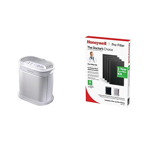 Honeywell HPA104 True HEPA Allergen Remover with Honeywell HRF-A100 Pre Kit air Purifier Filter, Black