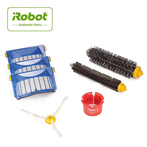 iRobot 4636432 Authentic Replacement Parts- Roomba 600 Series Replenishment Kit (1 bristle brush, 1 beater brush, 1 spinning side brush, 3 AeroVac filters, and 1 round cleaning tool),White