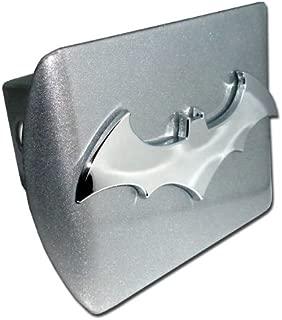 "Elektroplate Batman Brushed Silver and Chrome ""3D Bat"" Emblem Metal Trailer Hitch Cover Fits 2 Inch Auto Car Truck Receiver"