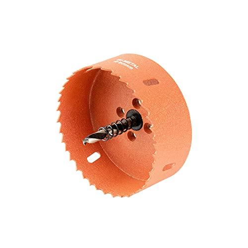 Meccion Sierras de Corona Perforadoras M42 Bi-Metal Adecuado para taladros eléctricos y taladros de banco, Ideal para Metal Suave, Aluminio, Madera, PVC, MDF y Plástico (90mm)