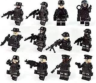 ミニフィグ スワット 12体セット 武器付き 特殊部隊 SWAT ブラック …