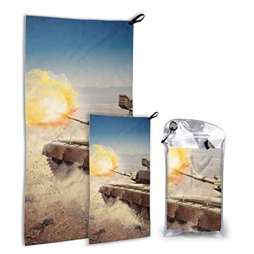 N\A Heavy Armor On The Battlefield 2 Pack Toalla de Playa de Microfibra para Mujer Toalla de Playa Hombre Set Secado rápido Lo Mejor para Viajes de Gimnasio Mochilero Yoga Fitnes