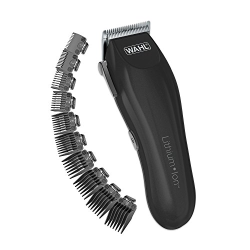 Wahl Clipper Lithium-Ion Cordless Haircutting Kit - Rechargeable Grooming & Trimming Kit With 12 Guide Combs for Heads, Beard & All Body Grooming - Model 79608