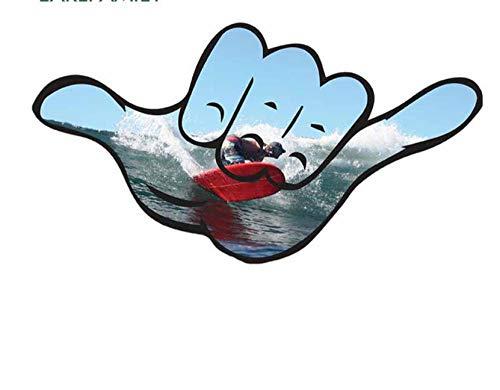 MDGCYDR Pegatinas Coche 13 Cm X 8,6 Cm para Colgar En La Playa Surf Suelto Hawaii Anime Divertido S Vinilo JDM Maletero Camión Gráficos Accesorios De Coche