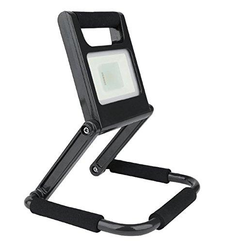 Unitec Spot LED Batterie 10 W 700 lumens, pliable, aluminium, W, noir, 24.2 x 21,5 x 2,5 cm