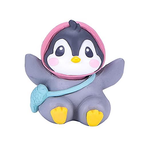 zhaoying Llaveros Super Lindo Pingüino Micro Paisaje Ornamento Multiusos Miniatura Pingüino Figuras para Decoración del Hogar Jardín