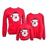 Sudadera Navidad Jersey Navideño Sudaderas Navideñas Familiares Niño Niña Sueter Hombre Mujer Reno Sweaters Estampadas Pullover Cuello Redondo Largas Chica Chico Invierno Anchas Basicas Rojo L