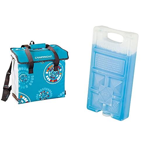 Campingaz Minimaxi Ethnic Nevera Flexible, Multicolor, 29 L + 9377 Acumulador Frio, Unisex, Azul, 18 X 9.4 X 3.2 Cm
