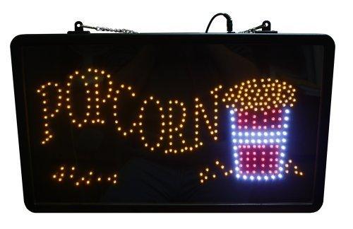 Paragon Popcorn LED Lighted Sign, Black by Paragon International, Inc.[DROPSHIP]