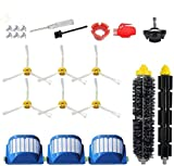 Replacement Parts for iRobot Roomba 600 610 620 650 675 677 692 671 694 691 Series Vacuum Cleaner Accessories Kit-Include 6 Side Brush,3 Filter,1 Front Caster Wheel,Bristle Brush and 3 Cleaning Tool