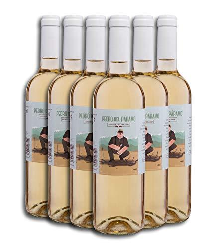 Vino Blanco - Leyenda del Páramo - Pedro Del Páramo - Caja De 6 botellas De 0,75 Litros - Envio en caja protectora de alta resistencia para un transporte 100% seguro