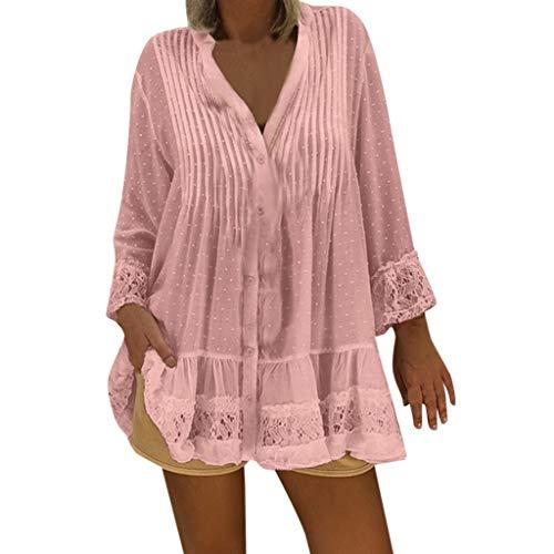 Reooly 2019 otoño e Invierno Nuevas Mujeres Bohemias con Cuello en v Bata de Playa Conjunto de Gran tamaño Retro Hippie Mujer Camisa Suelta