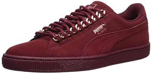 PUMA Women's Suede Classic Sneaker, Pomegranate-Rose Gold, 8 M US