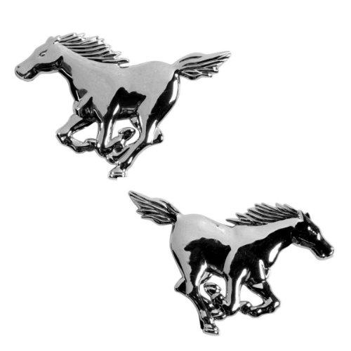 Akhan 3D15027 - chroom 3D belettering embleem logo Horse, paard (2 stuks)