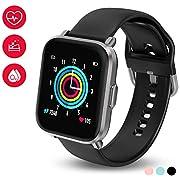 HolyHigh Smart Watch, Smartwatch Men Women Fitness Tracker 18 Sport Modes Bluetooth 5.0 Swimming Recorder 10 Days Battery Life IP68 Waterproof Heart Health/SpO2/Heart Rate/REM Sleep Monitor Compass