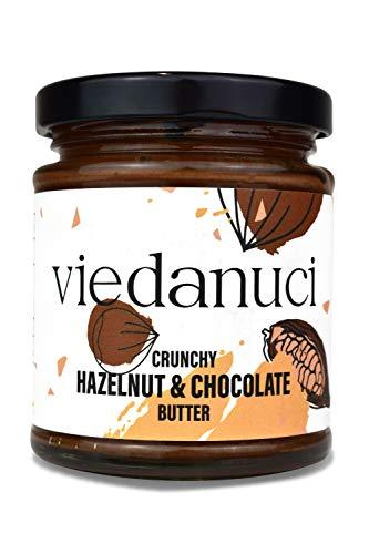 Viedanuci, crema spalmabile cioccolato e frutta secca, con pezzetti, 170 g, confezione da 2