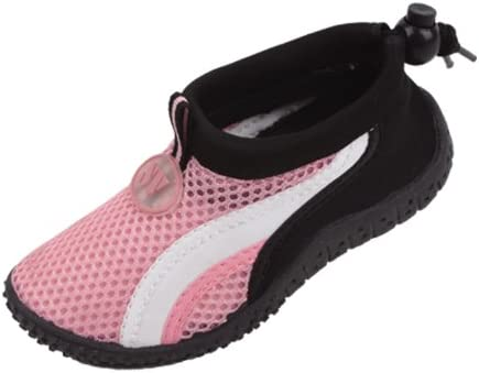 starbay New Brand Kid's Pink Athletic Water Shoes Aqua Socks with White Streak Size 1
