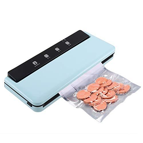 Comida Envasadora Al Vacío Maquina De Empacado, Sellado Automático Para Alimentos Frescos Secos Y Húmedos Preservación Para Acampar Y Uso En El Hogar Con 10 Piezas De Bolsas (Azul)