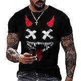 LaiYuTing Camiseta Estampada En 3D De Moda para Hombre, Camiseta Deportiva Informal De Calle, Camiseta con Cuello Redondo para Hombre