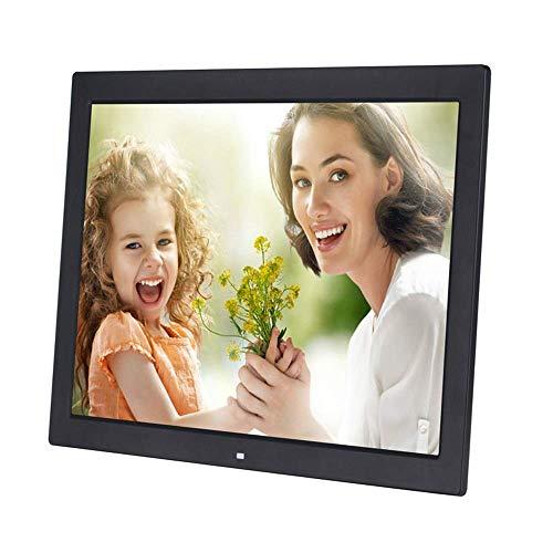 Dsqcai 19 Zoll Digitaler Fotorahmen 1366 * 768 Hochauflösender LED-Bildschirm 1080P HD-Videowiedergabe Unterstützt USB- Und SD-Kartensteckplätze Und Fernbedienung,Schwarz