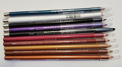 Wholesale Lot of 10 Piece Jordana Lip Liners & Eyeliners Cosmetics Random Shades by Jordana