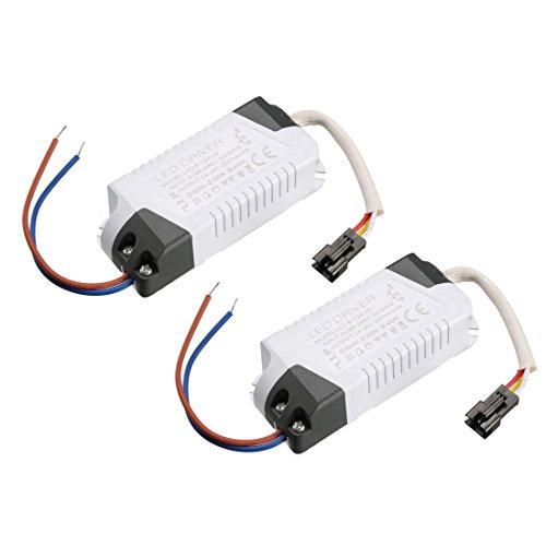 sourcing map 8-12W Corriente Constante 300mA Controlador LED de Alta Potencia AC 85-265V Salida 24-46V Fuente de alimentación Externa LED Lámpara de Techo Rectificador Transformador 2Pcs