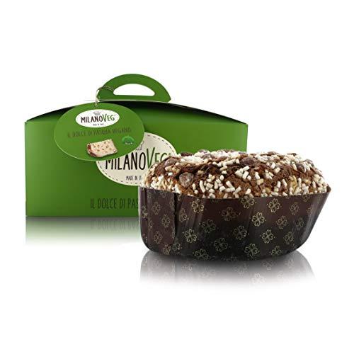 Vergani Dolce di Pasqua Vegano Glassato alla Mandorla E con Cubetti D'Arancia Canditi, Linea MilanoVeg, 750 Grammi