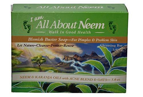 Neem Oil & Karanja Oil Acne Soap with Tea Tree Oil - Blemish Buster