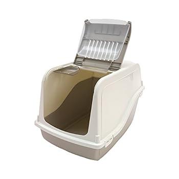 MP Bergamo Maison De Toilette Ariel Top Free + Pelle À Litiere pour Chat Beige Beige
