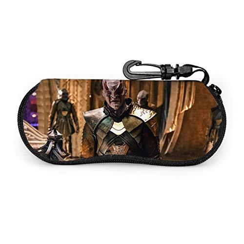 Star Trek - Funda protectora para gafas de sol de viaje portátil resistente a los arañazos con pinza de gancho para unisex