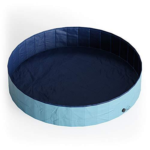 Oskar Hundepool Schwimmbad für Hunde Planschbecken Swimmingpool Kinderpool Pool (160x30cm)