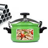 Cocina de presión a prueba de explosiones, mini olla de cocina, fondo compuesto de acero inoxidable, con configuración de haz elástico, cocina de inducción cocina universal de gas Cocina 1. 8L, 2L, 3L