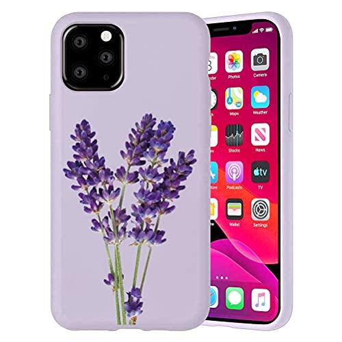 Yoedeg Funda para Apple iPhone 6/6S con Dibujo Diseño 4,7 Pulgada, Funda de Ultra Suave Gel TPU Silicona Carcasa Protección Antigolpes Resistente Bumper Cover para iPhone 6S, Lavanda