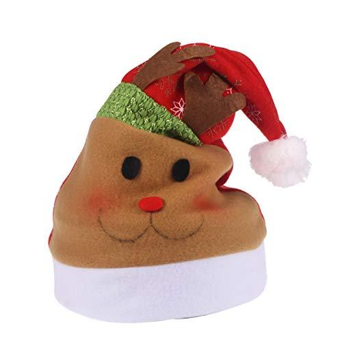 Amosfun Weihnachtsmütze, Plüsch, Weihnachtsmütze, verdickte Weihnachtsmütze, für Kinder, Weihnachten, Party-Zubehör (Stil 1) Gr. One Size, Stil 3