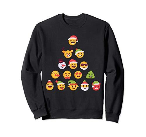 Emoji Weihnachtsbaum-Elf Weihnachtsmann Rentier Schneemann Sweatshirt