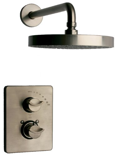 La Toscana 73PW690 Morgana Single-Handle Thermostatic Shower Faucet, Brushed Nickel