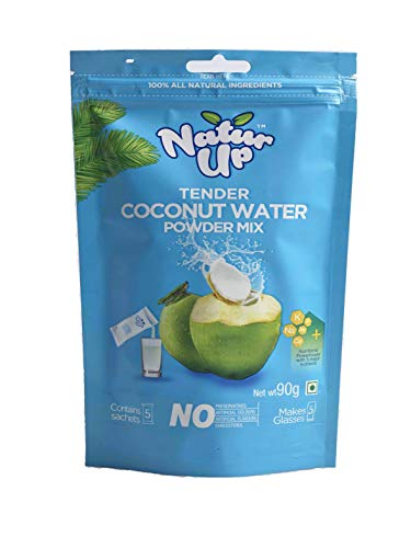 NaturUp Tender Coconut Water Powder Mix, 2 x Pack of 5 sachets