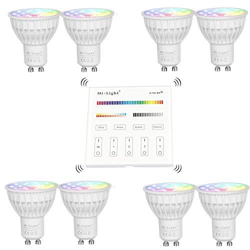 Mi.light LED Spotlight 4W RGB-CCT Colour Changing Warm Wit Wall Panel Control Control Lights