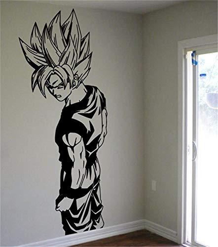 Dragon Ball Wandtattoo Wandtattoo Super Saiyan Goku Vinyl Wandtattoo Dragon Ball Z, Dbz Anime Wandkunst, Aufkleber für Kinderzimmer Dekoration