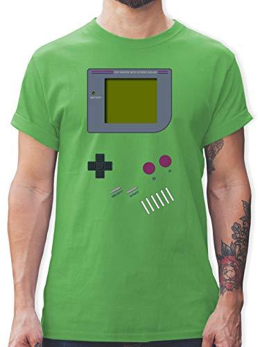 Nerds & Geeks - Gameboy - M - Grün - Kleidung 90er Jahre Herren - L190 - Tshirt Herren und Männer T-Shirts