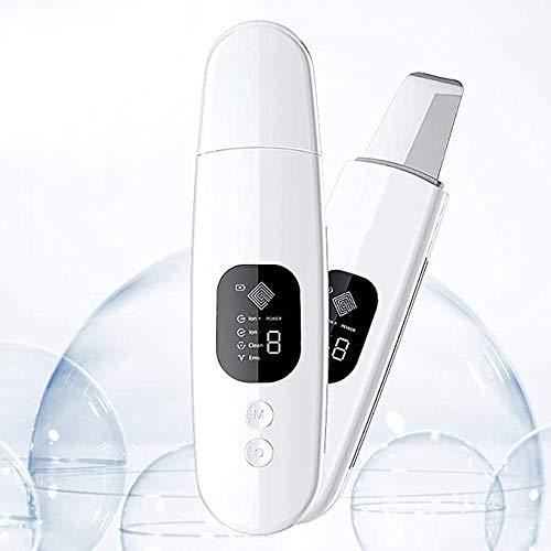 Épurateur Ultrasonique Skin Scrubber pour Nettoyage Point Noirs Les Pores Acné Ridules Visage Traitement Exfoliation Vibration Appareil de Massage Facial USB-C Rechargeable Affichage LED